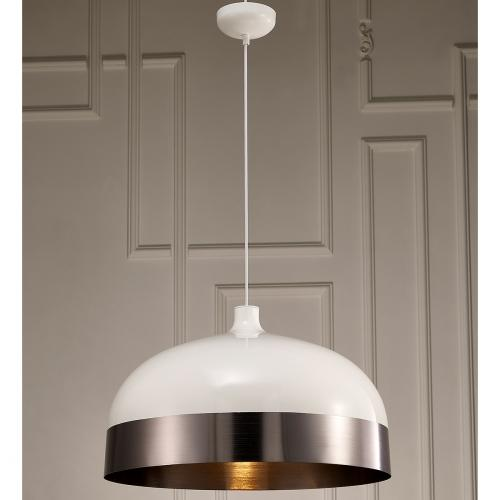Adriana Pendant Lamp With Silver And White Aluminum