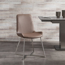 Load image into Gallery viewer, Aileen Dining Chair Taupe Faux Leather