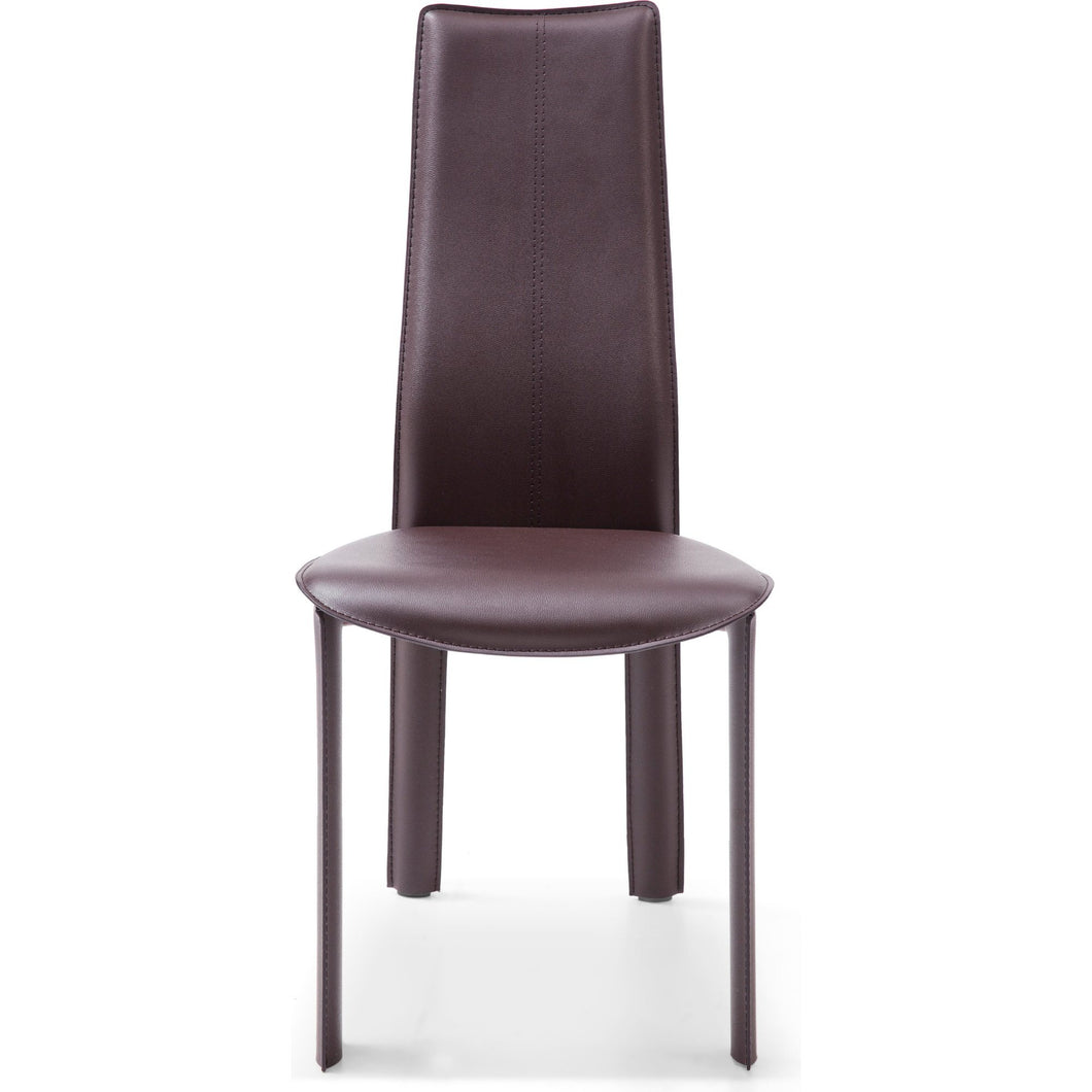 Allison Dining Chair Chocolate Hard Leather