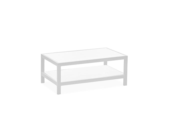 Angelina Outdoor Indoor Coffee Table With White Aluminum Frame