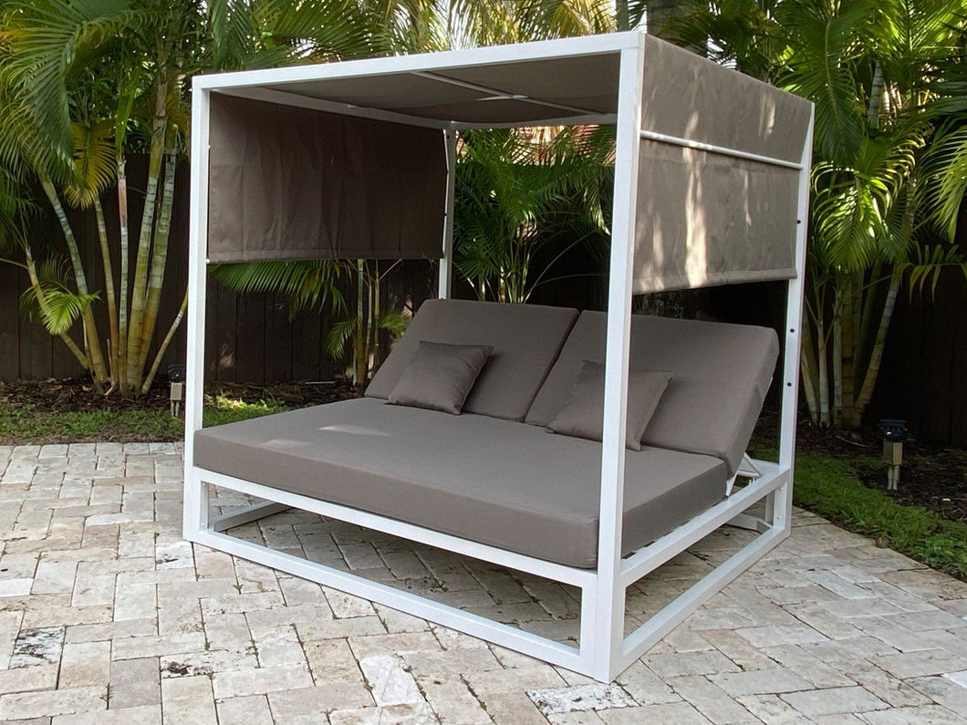Ava Gazebo White Aluminum Powder Coating Finish Base
