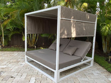 Load image into Gallery viewer, Ava Gazebo White Aluminum Powder Coating Finish Base