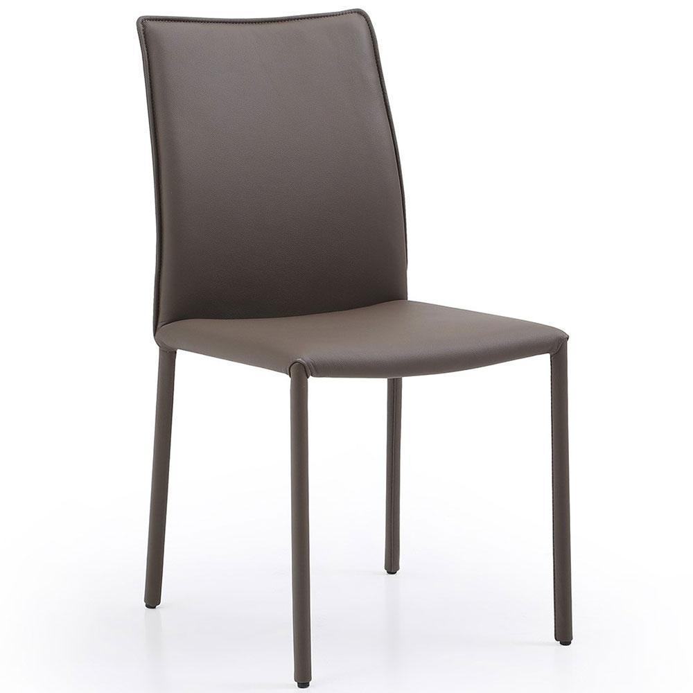 Candace Dining Chair Taupe Leather