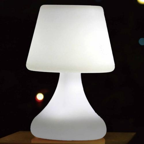 Cosmos Led Table Lamp Speaker White Plastic And Bluetooth Speaker