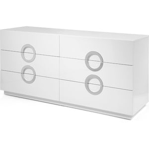 Eddy Dresser Double High Gloss White