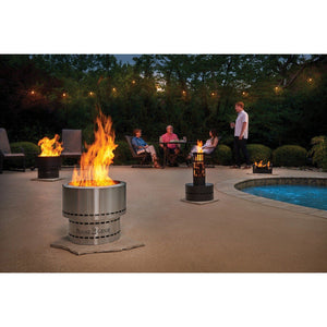 Fire Pit Wood - Stainless Steel Wood Pellet Fire Pit In Silver FG-16SS