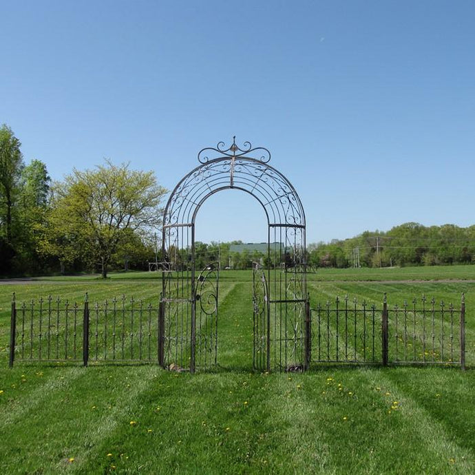 Gazebos, Arches, & Garden Gates - Garden Gate Archway With Four-Piece Fence