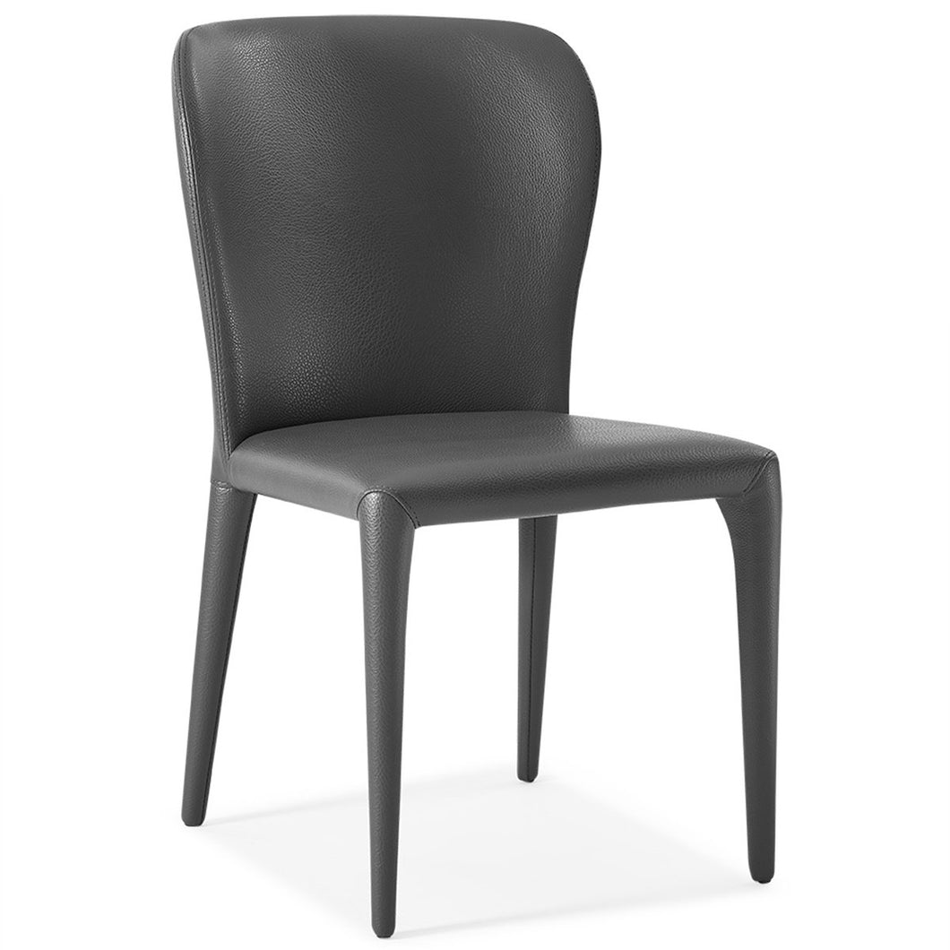 Hazel Dining Chair Gray Faux Leather