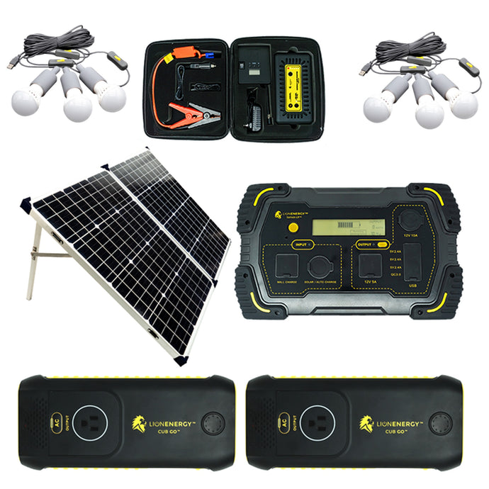 Kit - Lion Tailgating 500W Generator Solar Power Kit