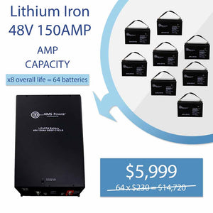 LITHIUM BATTERY 48V 150AMP LIFEPO4 INDUSTRIAL