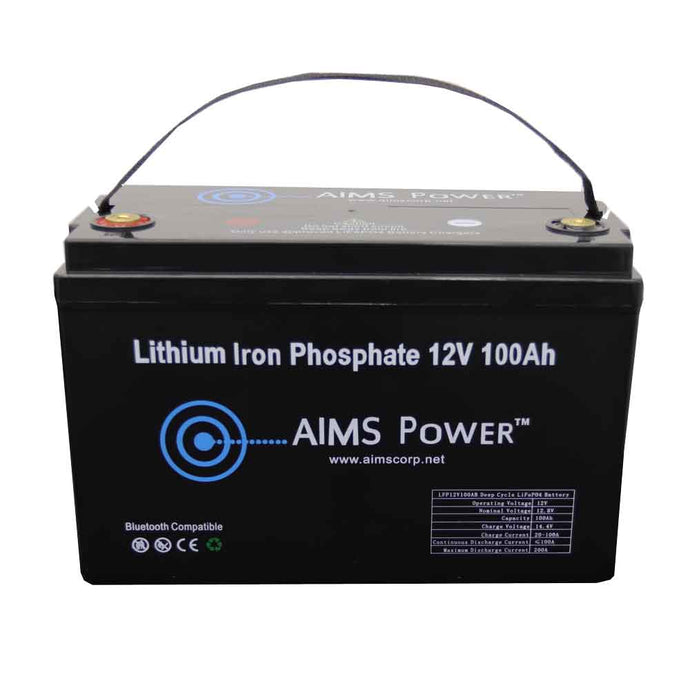 Lithium Battery - Lithium Battery 12V 100Ah LiFePO4 Lithium Iron Phosphate With Bluetooth Monitoring