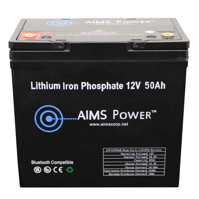 Lithium Battery - Lithium Battery 12V 50Ah LiFePO4 Lithium Iron Phosphate With Bluetooth Monitoring