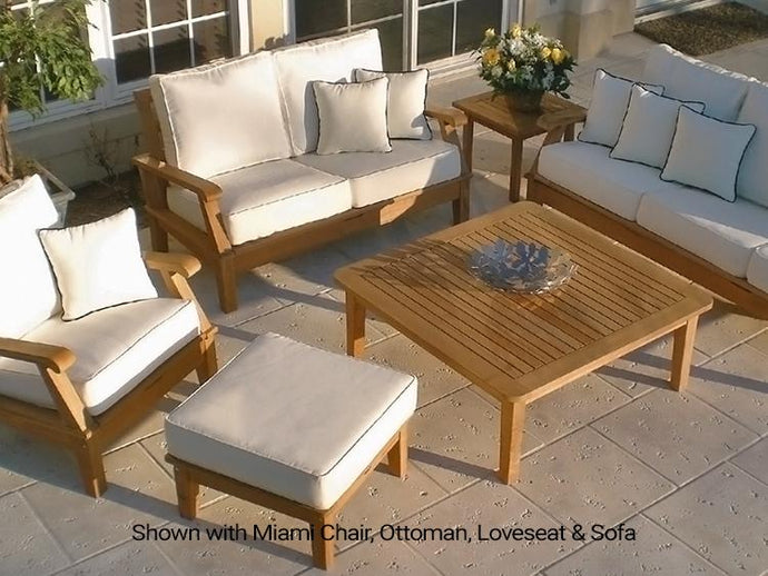 Living Room Set - Patio Miami Deep Seating Set With Sunbrella Cushion
