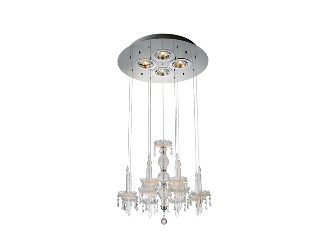 Macy Pendant Lamp Clear Glass And Crystal