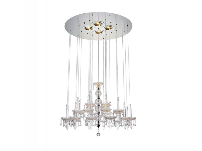 Macy Pendant Lamp Large Clear Glass And Crystal