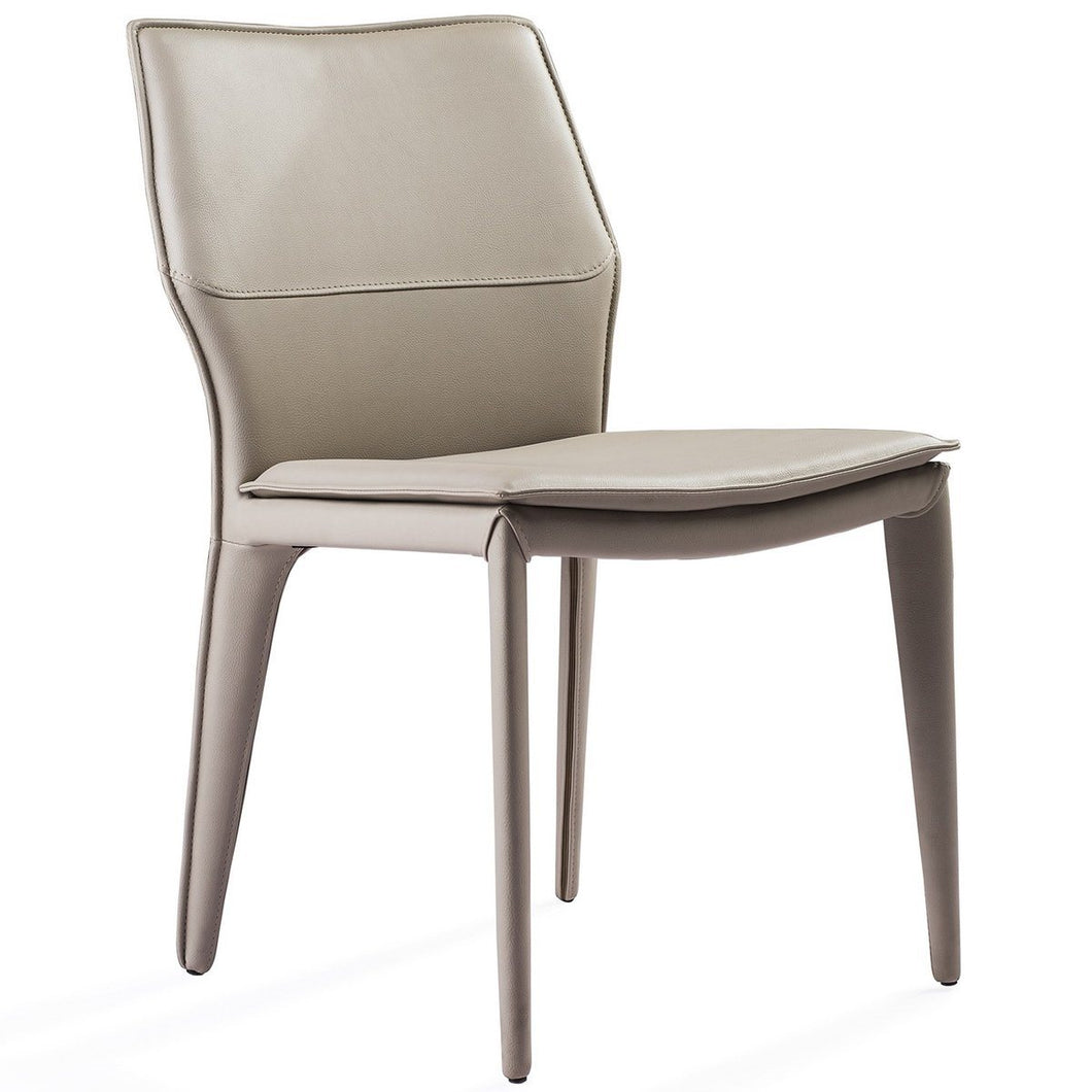 Miranda Dining Chair Light Grey Faux Leather