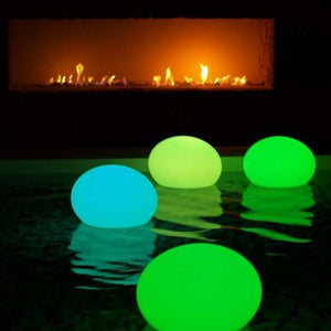 Moon Led Floating Oval Shape Lamp With Pe Plastic And Multicolor Change