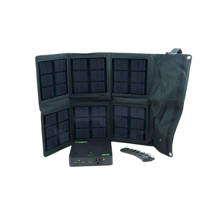 Nature Power Portable Power - NP 18 Watt Folding Solar Charger With Power Bank Elite 25 1 Unit 55020 +1 Unit 80026