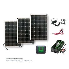 Load image into Gallery viewer, NP Solar Power Kit 330 Watts Solar Panels 750W Inverter 30 Amp CC