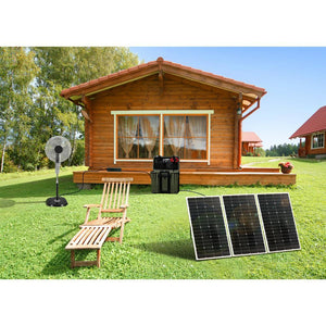 NP Solar Power Kit 330 Watts Solar Panels 750W Inverter 30 Amp CC