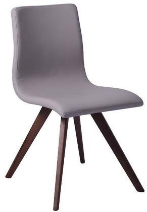 Olga Dining Chair With Taupe Faux Leather