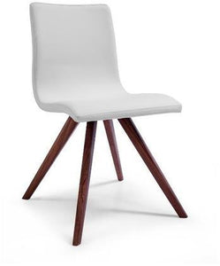Olga Dining Chair With White Faux Leather