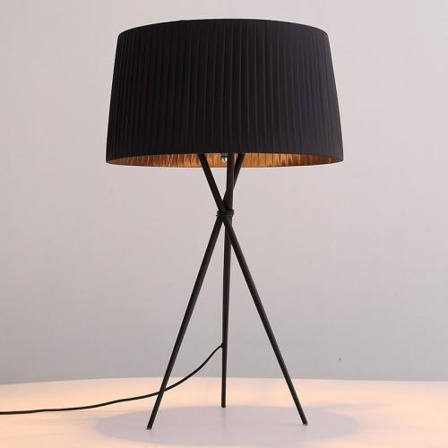 Paige Table Lamp Black Carbon Steel And Fabric