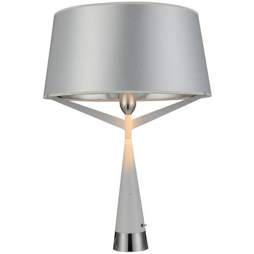 Paris Table Lamp White Carbon Steel And Fabric