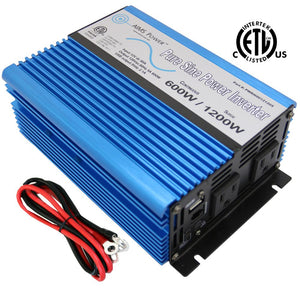 Pure Sine Inverters - Aims Pure Sine Inverter 600 Watt 12 Volt Listed To UL 458