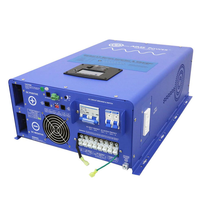 Pure Sine Inverters - Aims Pure Sine Inverter Charger 10000 Watt - 48 Vdc / 240Vac Input & 120/240Vac Split Phase Output