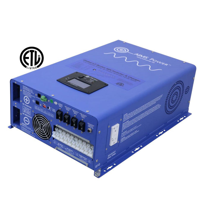 Pure Sine Inverters - Aims Pure Sine Inverter Charger 12000 Watt - 48 Vdc / 240Vac Input & 120/240Vac Split Phase Output ETL Listed To UL 1741 / CSA
