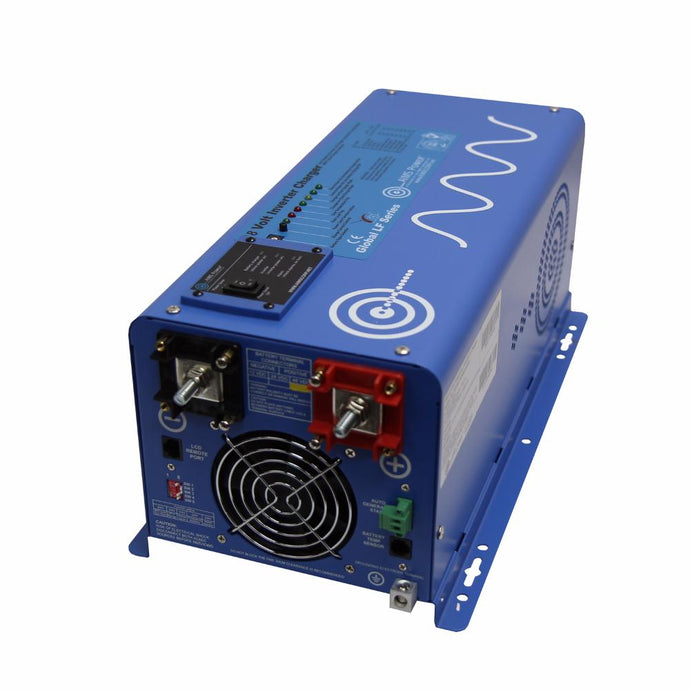 Pure Sine Inverters - Aims Pure Sine Inverter Charger 2000 Watt 48 Volt DC To 120 Volt AC