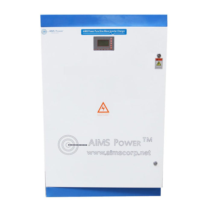Pure Sine Inverters - Aims Pure Sine Inverter Charger 30KW 30,000 300 VDC 208 VAC THREE PHASE