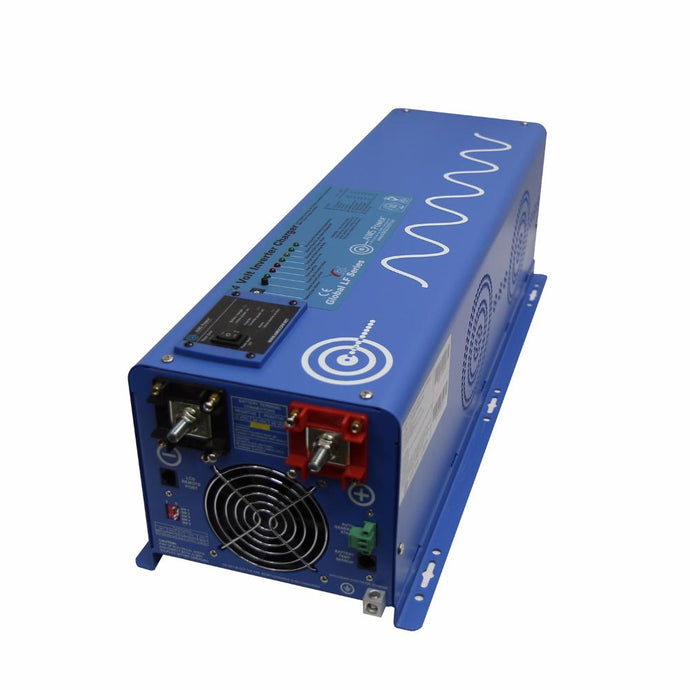 Pure Sine Inverters - Aims Pure Sine Inverter Charger 6000 Watt 24Vdc / 240Vac Input & 120/240Vac Split Phase Output