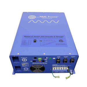 Pure Sine Inverters - Aims Pure Sine Inverter Charger 6000 WATT 24Vdc TO 120/240Vac OUTPUT LISTED TO UL & CSA