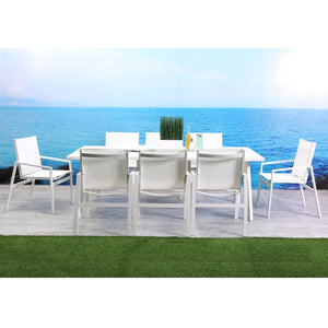 Rio Indoor Outdoor Aluminum Dining Table Matte White