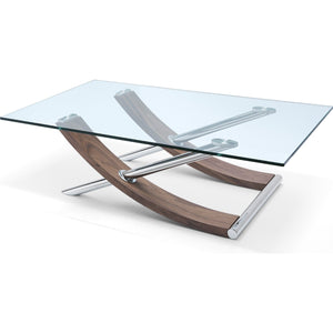 Robin Coffee Table With Clear Tempered Glass Top