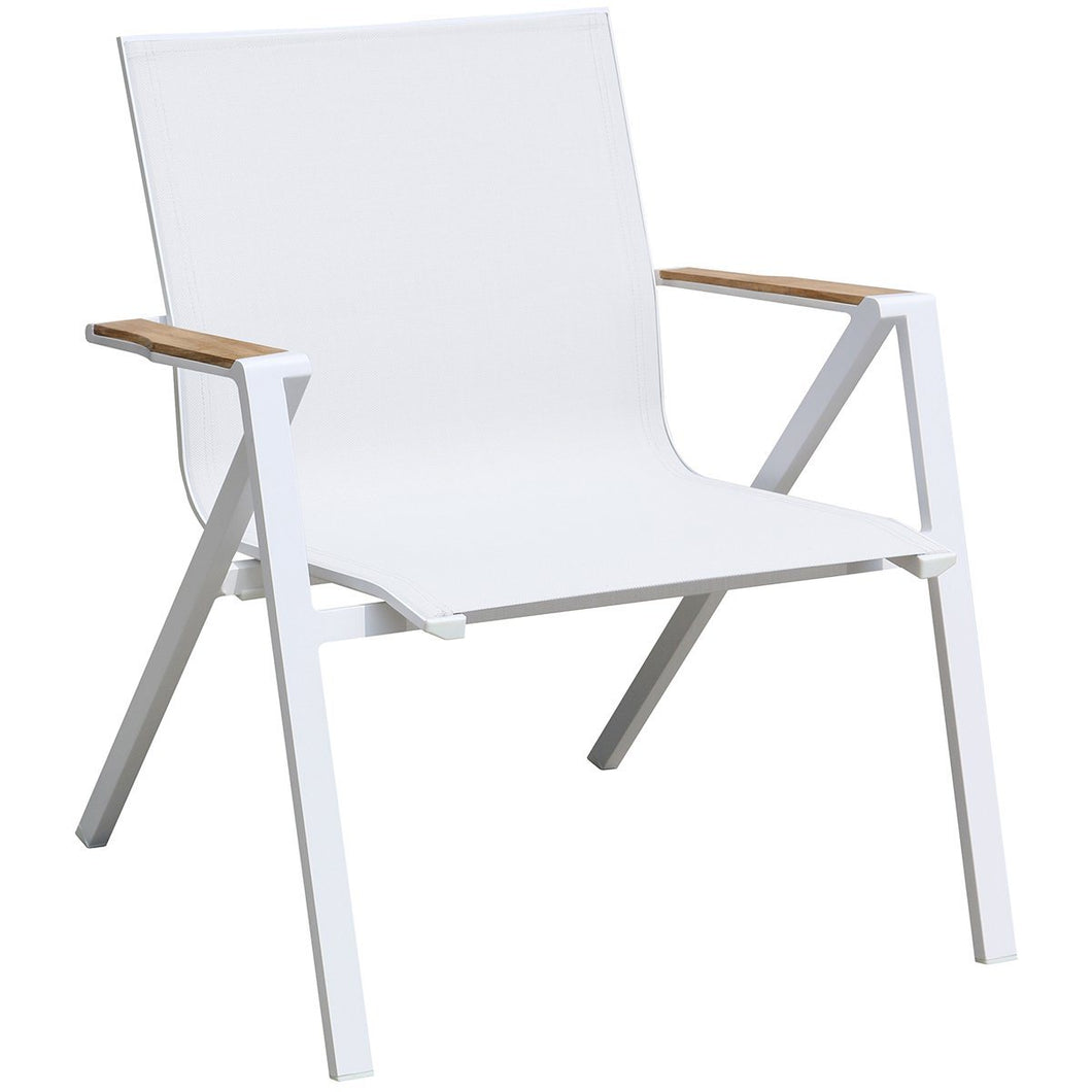 Soho Indoor Outdoor Armchair White Aluminum