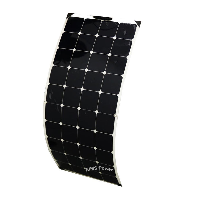 Solar Panels - Aims Flexible Bendable Slim Solar Panel 130 Watt Mono Crystalline