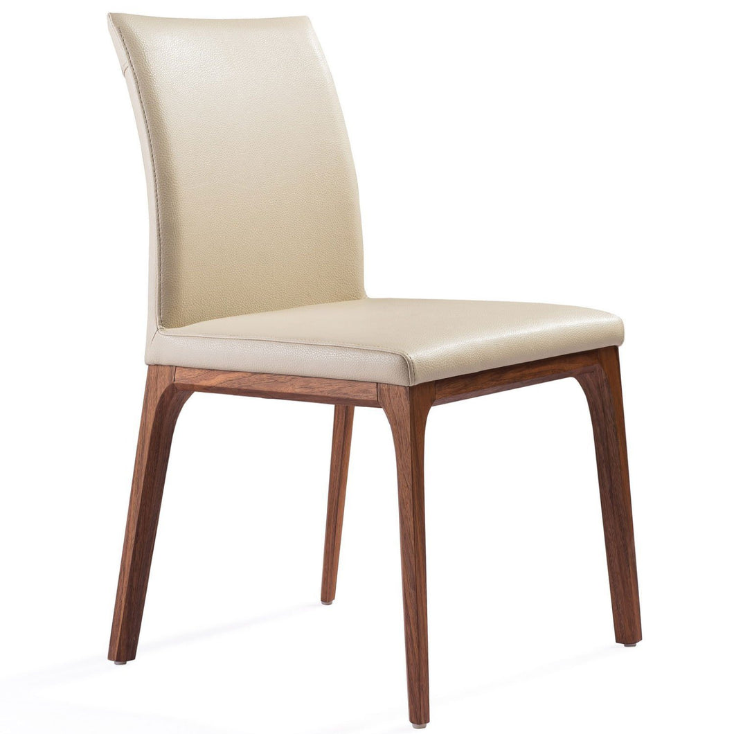 Stella Dining Chair Taupe Faux Leather