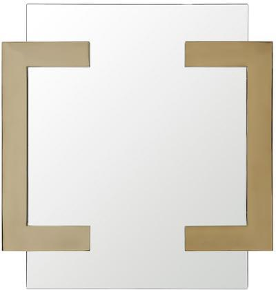 Sumo Square Mirror With Polished Gold Stainless Steel Frame