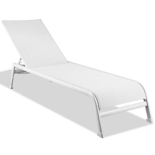 Sunset Indoor Outdoor Chaise Lounge White Aluminum Base