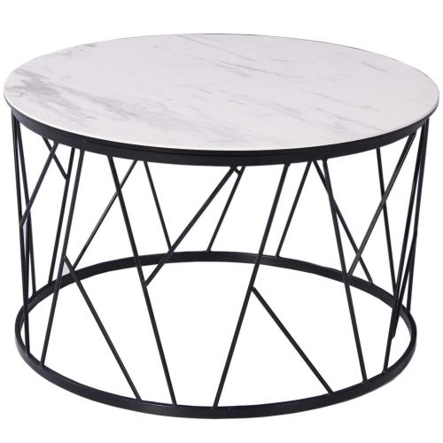 Zeus Coffee Table With White Ceramic Top