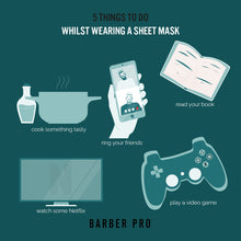 Load image into Gallery viewer, Barber Pro GENTLEMANS SHEET Mask