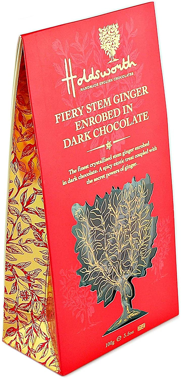 Holdsworth Chocolates, Fiery Stem Ginger With Dark Chocolate