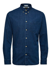Load image into Gallery viewer, Selected Homme Dark Denim Shirt
