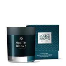 Load image into Gallery viewer, Molton Brown Russian Leather Single Wick Candle