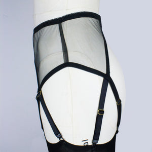 Occult Suspender Belt - Black