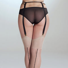 Stockings with Crystal Seams - Nearer The Moon  - 2
