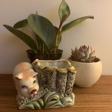 Load image into Gallery viewer, Vintage Porcelain Pig Planter
